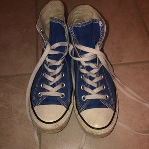 Royal blue high top converse